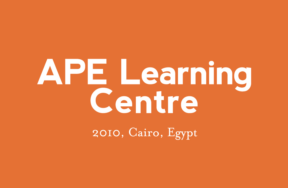 2010 APE Learning Centre, Cairo, Egypt